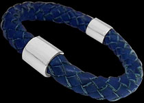 10mm Genuine Leather, and .925 Silver Bracelets