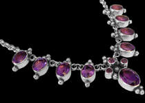 Amethyst Silver Necklaces