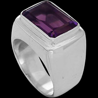 Amethyst Rings - Sterling Silver and Amethyst Rings