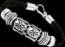 Sterling Silver leather Bracelets