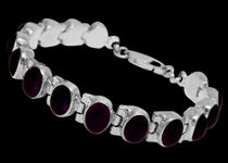 Silver and Amethyst Bracelets