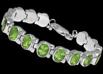 Sterling Silver and Peridot Bracelets