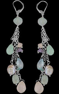 Bridesmaid's Gemstone Earrings