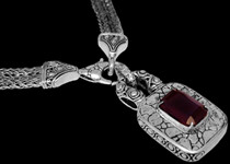 Garnet and Sterling Silver Necklaces