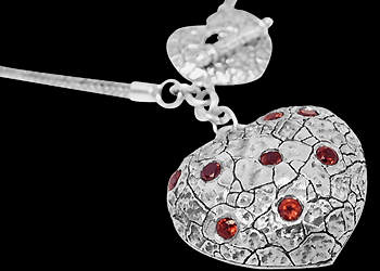 Silver Jewelry - Garnet and Sterling Silver Necklaces SN152ga :  mens jewelry silver jewelry silver rings sterling silver jewellery
