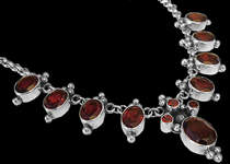 Garnet Jewelry - Sterling Silver and Garnet Jewelry