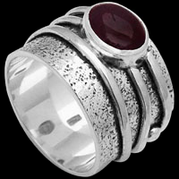 Garnet Rings - Garnet and Sterling Silver Rings