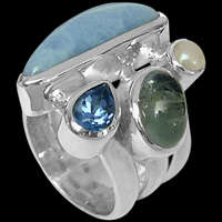 Gemstone Rings - Sterling Silver Rings - Designer Rings