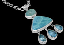 Sterling Silver and Topaz Necklaces - Topaz Jewelry