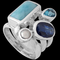 Kyanite Silver Rings