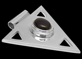 Silver Jewelry - Onyx and Sterling Silver Triangle Pendant MP097 :  silver earrings silver bracelets silver rings sterling silver rings