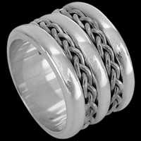 Groom's Jewelry Gifts - Sterling Silver Rings