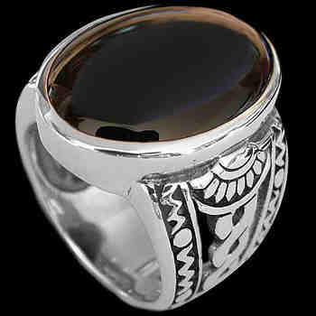 Men's Jewelry: Onyx, Sterling Silver Ring R1031