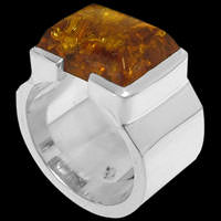 Amber Rings - Amber and Sterling Silver Rings