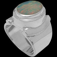 Opal Rings - Sterling Silver and Opal Rings