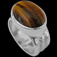 Tigers Eye Rings - Sterling Silver and Tigers Eye Rings
