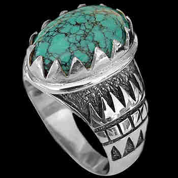 Men's Jewelry: Turquoise and Sterling Silver Rings R689