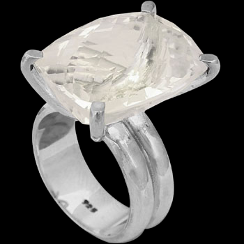 Silver Jewelry - Cubic Zirconia  and Sterling Silver Rings R-624