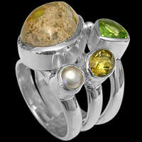 Silver and Gemstone Rings