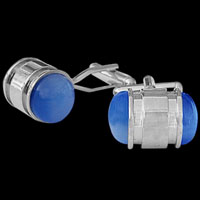 Stainless Steel and Gemstone Cufflinks