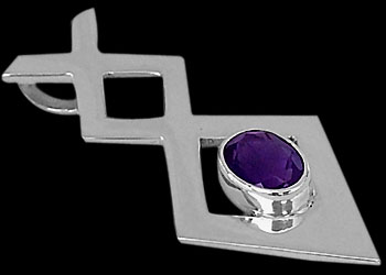 Amethyst and Sterling Silver Pendants MP010amy from jewelry-by-anixi.com