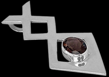 Smokey Quartz and Sterling Silver Pendants MP010sq