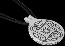 Sterling Silver Cycladic Art pendants