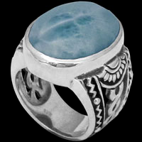 Larimar and Sterling Silver Rings