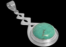 Turquoise Silver Pendants
