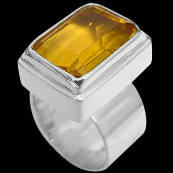 Women's Jewelry: Citrine & Sterling Silver Rings MR02
