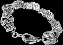 Sterling Silver Gothic Bracelets