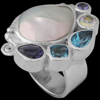 Silver Tazanite Rings