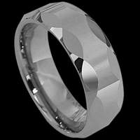 Faceted Designs Tungsten Rings