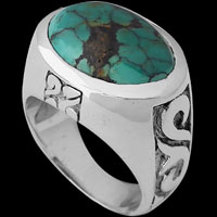 Turquoise Rings - Sterling Silver and Turquoise Rings